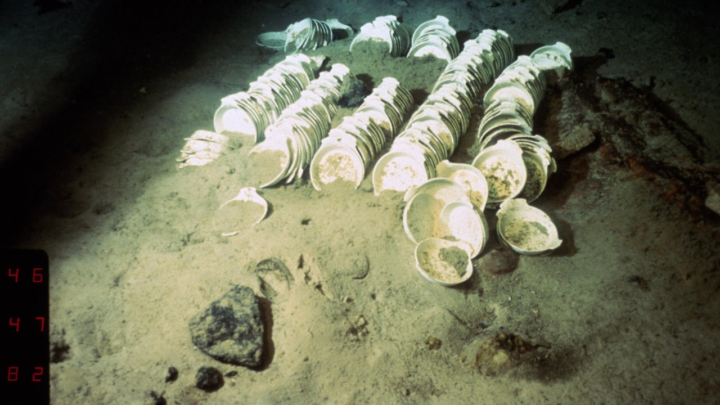 Dishes found on the wreck of the Titanic